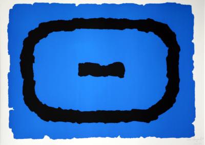 Bram Bogart - Compositie blauw/zwart