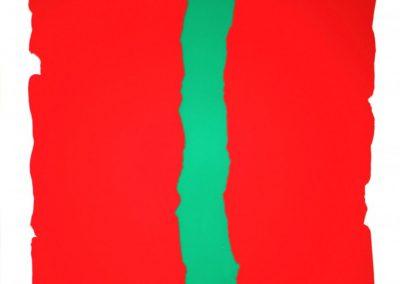 Bram Bogart - Compositie rood/groen