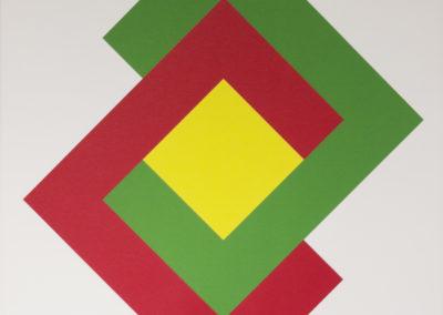 Bob Bonies - Compositie geel/groen/rood