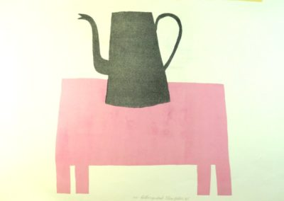 Klaas Gubbels - 'Ketel op roze tafel'