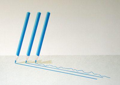 Wil Klaassen. Drie potloden.