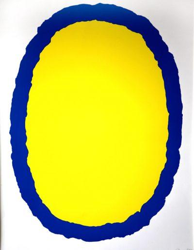 Bram Bogart - Compositie geel/blauw
