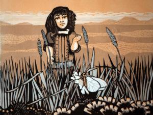Frans de Haas - Meisje in het veld