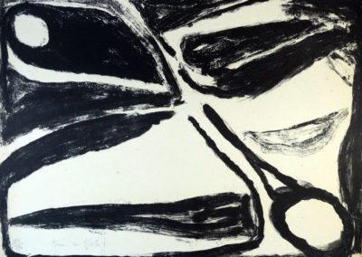Bram van Velde - Compositie zwart/wit