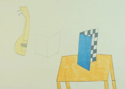 Klaas Gubbels - Tafel met schaakbord