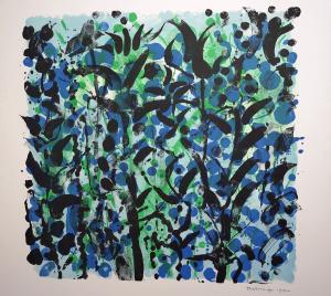 Jef Diederen - Blauw bloemenveld