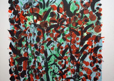 Jef Diederen - Rood bloemenveld
