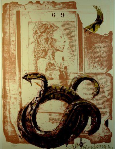 Bierernbroodspot - 'Ruïne met slang'